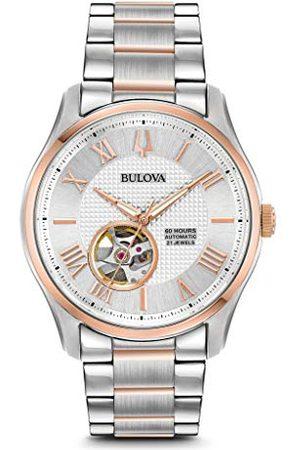 BULOVA Herr analog klassisk automatisk klocka med rostfritt stålrem 98A213