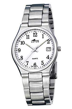 Lotus Herr analog kvartsklocka med rostfritt stål armband 15192/2
