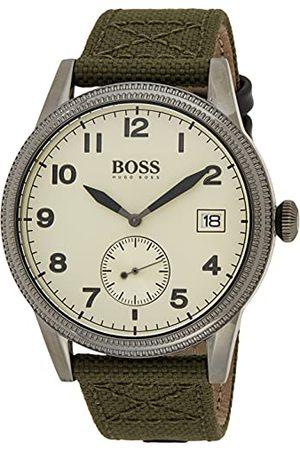 Hugo Boss Analog kvartsklocka för män med textilrem 1513670