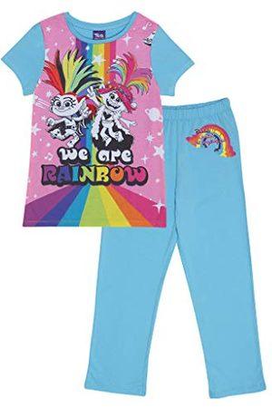 Popgear Trolls Poppy We are Rainbow långärmad pyjamasset för flickor pyjamas, , 6-7 År