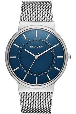 Skagen Herr kvartsklocka med urtavla analog display och rostfritt stål armband SKW6234