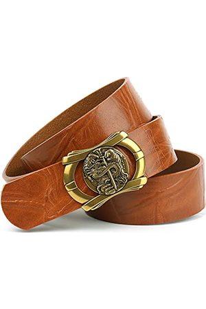 Anthoni Crown Unisex läderbälte bälte, ljusbrun, 105