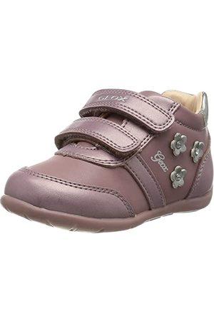 Geox Bebisar flicka B Elthan Girl B First Walker Shoe, Dk - 19 EU