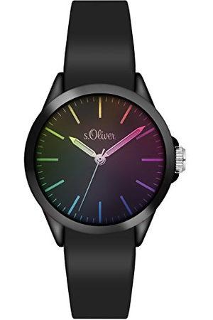 s.Oliver Unisex analog kvarts armbandsur med silikonarmband SO-3197-PQ