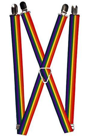Buckle-Down Spänne ner mäns hängslen-regnbåge, en storlek