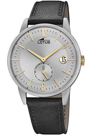 Lotus Herr analog klassisk kvartsklocka med läderrem 18361/1