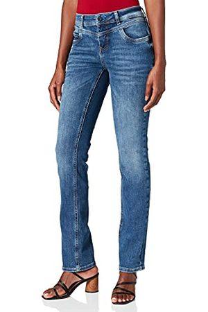 Street one Jeans för kvinnor, Mellanblå ranom blekmedel, 29W x 34L