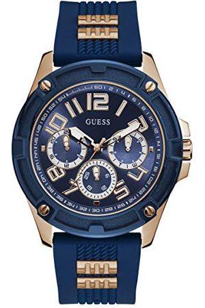 Guess Analog kvartsklocka för män med silikonrem GW0051G3