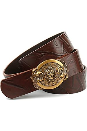 Anthoni Crown Unisex läderbälte bälte, mörkbrun, 85
