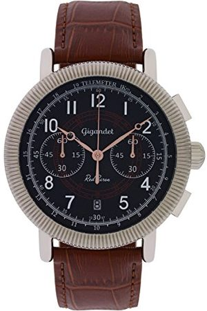 Gigandet Herrklocka kronograf vintage klocka läderarmband herrklocka röd baron G19, 03- , Röd baron IV