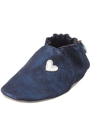 Robeez Unisex Baby Mini Love Spjälsäng sko, - Marin metall - 19 EU