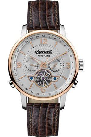 INGERSOLL 1892 Mäns analog automatisk klocka med läderrem I00701B