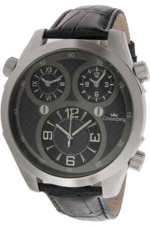 Cronenberg Man Klockor - Mäns armbandsur analog kvarts läder svart – 12072W2
