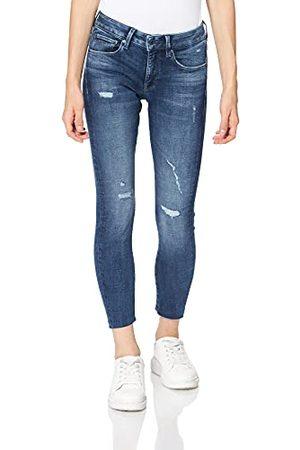 G-Star Dam 3301 smal ankel jeans i mitten, (borstad rippad Östersjön C051-c668), 24W x 32L