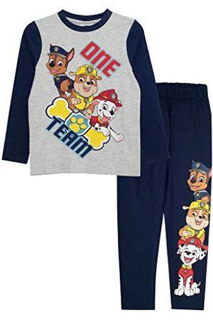 Popgear Pojkens Paw Patrol One Team lång pyjamasset marinblå/ljung grå pyjamas, BLÅ, 3-4 År