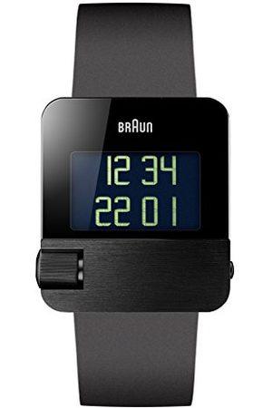 von Braun Herr kvartsklocka med urtavla digital display och gummirem BN0106BKBKG