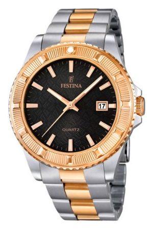 Festina Unisex kvartsklocka med urtavla analog display och två färger rostfritt stål armband F16685/5