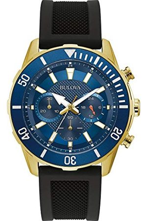 BULOVA Man Klockor - Kronograf kvartsklocka med silikonrem 98A244