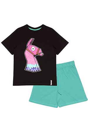 Fortnite Pojkens glöd i mörkret kort pyjamasset /blågrön pyjamas, /grönblått, 11-12 År