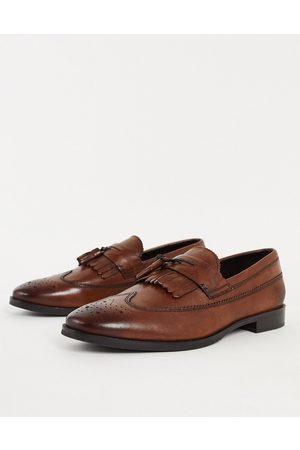 ASOS DESIGN – Tanfärgade loafers i polerad läder