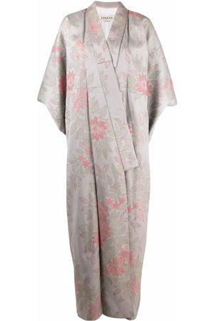 A.N.G.E.L.O. Vintage Cult Kvinna Kimonos - Blommig kimono från 1970-talet