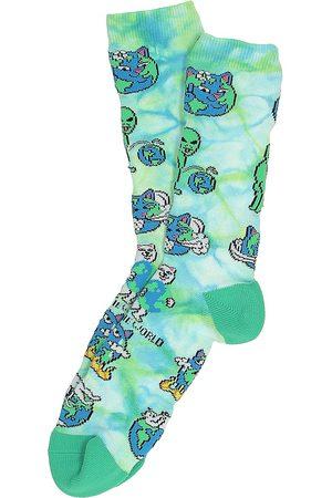 Rip N Dip Man Strumpor - Save The World Socks blue tie dye
