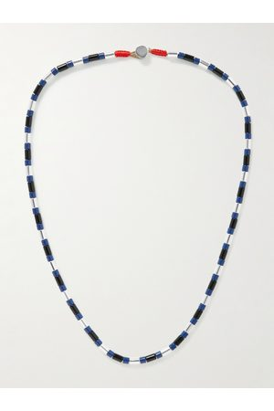 Roxanne Assoulin Man Halsband - Well Suited Enamel and Silver-Tone Necklace