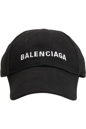 Balenciaga Kvinna Kepsar - Logo Embroidered Cotton Baseball Hat
