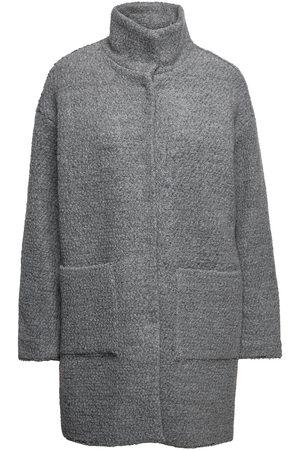 Lindex Kvinna Vinterkappor - Coat Nova Solid Yllerock Rock