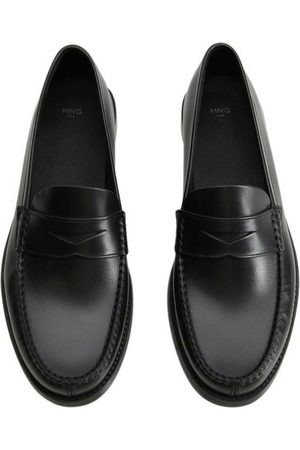 MANGO Man Loafers - Leather penny loafers