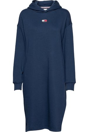 Tommy Hilfiger Tjw Longline Hoodie Badge Dress Dresses T-shirt Dresses Creme