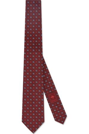 Gucci Double G and stars silk jacquard tie