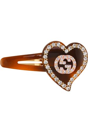 Gucci Hair clip with GG and heart detail