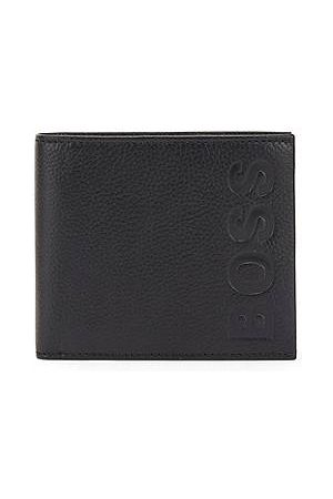 HUGO BOSS Gift-boxed wallet and card holder in grained leather