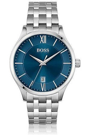 HUGO BOSS Blue-dial watch with five-link bracelet
