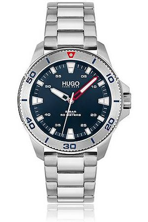 HUGO BOSS Link-bracelet watch with blue dial and protected bezel