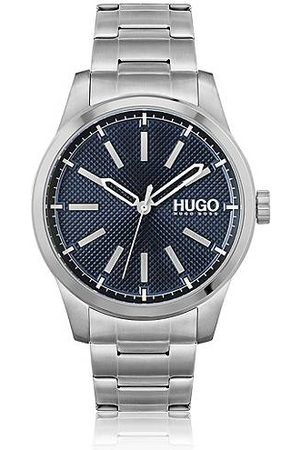 HUGO BOSS Stainless-steel watch with blue textured dial