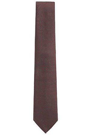 HUGO BOSS Micro-patterned tie in silk jacquard