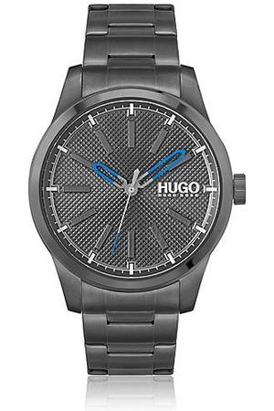 HUGO BOSS Black-plated watch with black textured dial