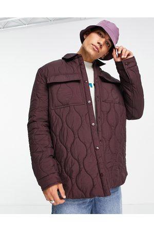 ASOS Man Jackor - – Vinröd kviltad skjortjacka