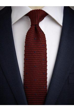 John Henric Man Stickade tröjor - Burgundy Knitted Tie