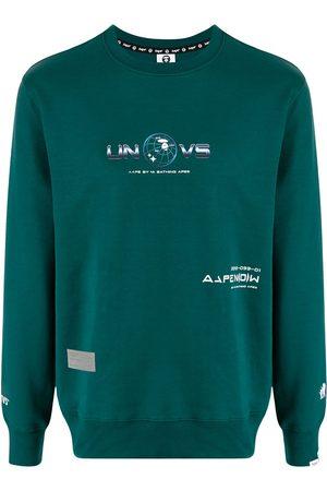 AAPE BY A BATHING APE Sweatshirt med slogan
