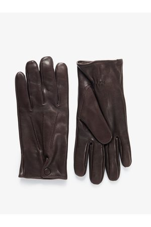 John Henric Man Handskar - Brown Leather Gloves Verbier