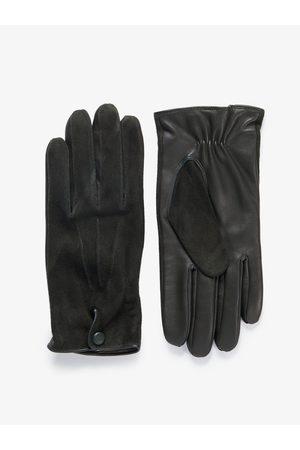 John Henric Man Handskar - Green Suede Gloves Aspen