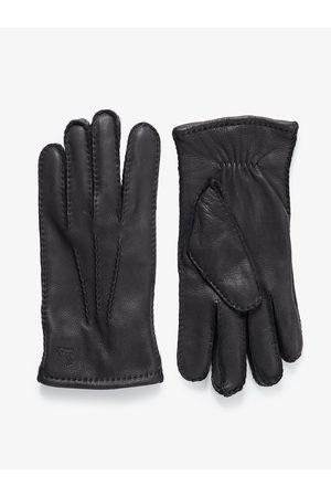 John Henric Man Handskar - Black Leather Gloves Airolo