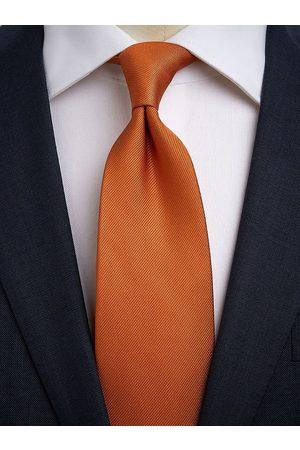 John Henric Man Slipsar - Dark Orange Tie Plain