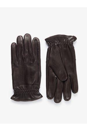 John Henric Brown Leather Gloves Zermatt