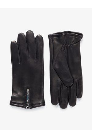 John Henric Man Handskar - Black Leather Gloves Arosa