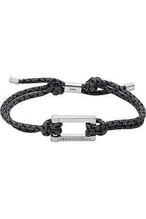 Armani Herrarmband namnlapp rostfritt stål silverfärgad, AXG0066040