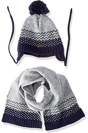 chicco Set för baby pojkar Composto Da Cuffietta E Sciarpa mössa, grigio, 0-3 Månader